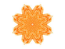 Abstract orange star shape Royalty Free Stock Photos