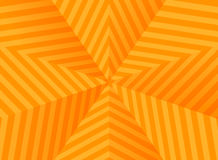 Abstract orange stars, striped background Stock Photography