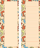 Abstract Orange Stationary Set. A set of two orange colored stationary pages with abstract design details Royalty Free Illustration