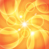 Abstract orange Sun light background Royalty Free Stock Images