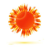Abstract orange sun symbol Royalty Free Stock Image