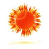 Abstract orange sun symbol Royalty Free Stock Image