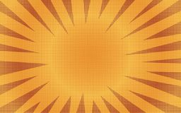 Abstract orange sunny striped comic background royalty free illustration