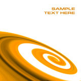 Abstract orange swirl background royalty free illustration