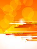 Abstract orange tech background. Bright illustration Stock Photos