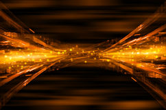 Abstract orange tech background. Abstract orange tech design background royalty free illustration