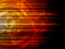 Abstract Orange technology background Stock Images