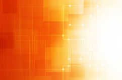 Abstract orange technology background. Royalty Free Stock Images