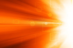 Abstract orange technology background. Abstract orange technology design background Royalty Free Stock Image