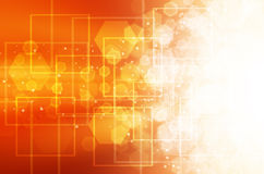 Abstract orange technology background. Abstract orange technology design background royalty free illustration