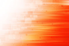 Abstract orange technology background. Stock Photo