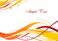 Abstract orange template Royalty Free Stock Photos