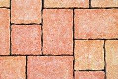 Abstract orange tiled paving texture Royalty Free Stock Photo