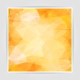 Abstract Orange Triangle background Royalty Free Stock Image
