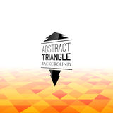 Abstract orange triangle field, perspetive pattern. In fog, geometrical vibrant multicolored vector background illustration Royalty Free Stock Photography