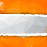 Abstract orange Triangle Polygonal torn paper Royalty Free Stock Photos