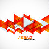 Abstract orange triangles design Stock Photo