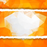 Abstract orange Triangular Polygonal torn paper Stock Photos
