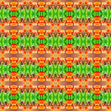 Abstract orange tulips pattern background. Stock Photography