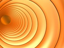 Abstract orange tunnel. Orange circles that view like a tunnel Stock Photography