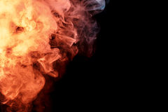 Abstract orange turquise smoke Weipa Royalty Free Stock Photography