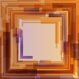 Abstract orange and violet gradient square text layout Stock Photos