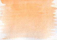 Abstract orange watercolor background. Royalty Free Stock Photo