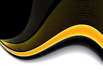 Abstract orange wave background design. With shadow Royalty Free Stock Photos