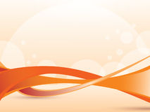 Abstract orange wave. On bright background  with shadows and place for text Royalty Free Stock Image