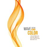 Abstract orange wave design element. Vector Stock Photography