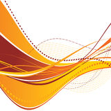 Abstract orange waves. Abstract multilayered orange wave. Vector Royalty Free Stock Photos