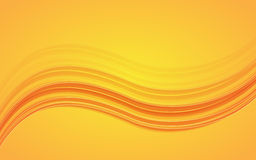 Abstract orange waves - data stream concept. Vector Illustration Royalty Free Stock Photo