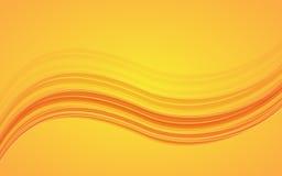Abstract orange waves - data stream concept. Vector Illustration. Clip-art royalty free illustration
