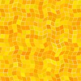 Abstract orange wavy tile pattern.  Wave tiled texture background.  Simple checked seamless illustration. Stock Photo
