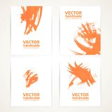 Abstract orange and white brush texture on banners Stock Photos