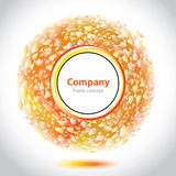 Abstract orange-white element for company. Stock Photography