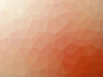 Abstract orange white gradient polygon shaped background.  Stock Image