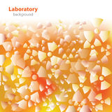 Abstract orange-white laboratory background. Royalty Free Stock Photo