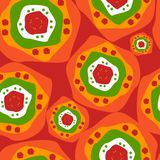 Ethnic seamless pattern with abstract circles vector illustration