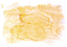 Abstract orange yellow isolated stain. Blots of spilled coffee for your design Stock Illustration