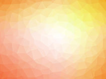 Abstract orange yellow polygonal background. Abstract orange yellow gradient low polygon shaped background Royalty Free Stock Photos