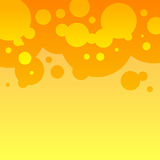 Abstract orange and yellow round bubbles Royalty Free Stock Image