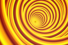 Abstract orangy yellow spiral. Colorful background. 3D rendering Stock Images