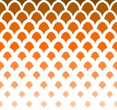 Abstract Oranje Art Deco Seamless Background Het geometrische Patroon van de Vissenschaal Royalty-vrije Stock Fotografie