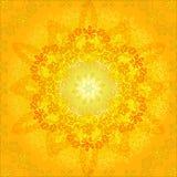 Abstract oranje bloemenframe Stock Afbeeldingen