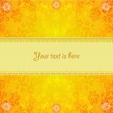 Abstract oranje bloemenframe Royalty-vrije Stock Afbeeldingen