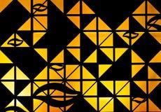 Abstract oranje licht achter zwarte Stock Foto's