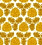 Abstract oranje naadloos patroon Royalty-vrije Stock Fotografie