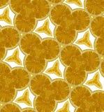 Abstract oranje naadloos patroon Stock Afbeelding