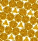 Abstract oranje naadloos patroon Royalty-vrije Stock Afbeeldingen